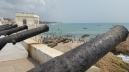 View of Cape Coast from inside the slave trade fort, Cape Coast Castle
